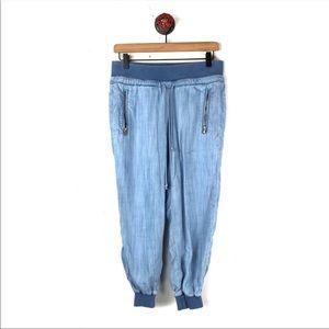 Cloth & Stone Joggers Pants Chambray XS Stretch